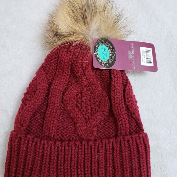 e4224c5b35fd7 ANGELA   WILLIAM Cable Knitted Pom Pom Beanie Hat
